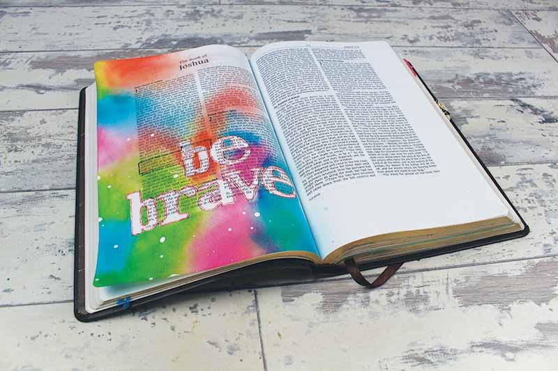 Example image of bible journaling
