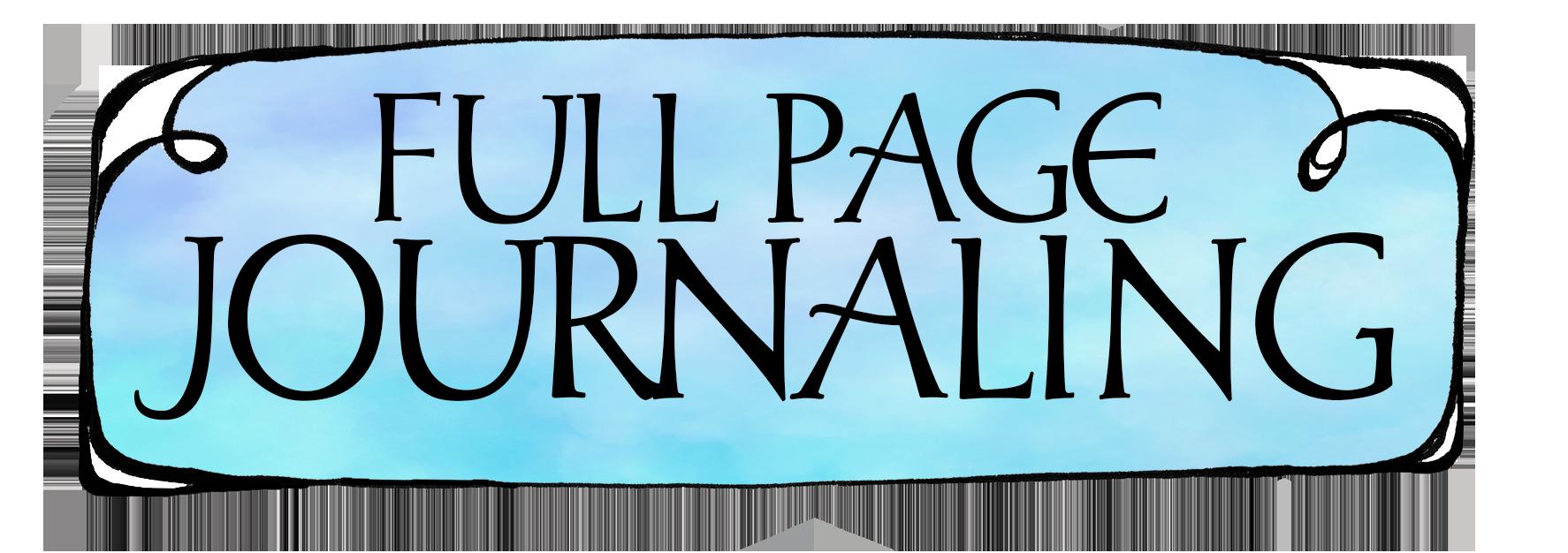 Full Page Journaling